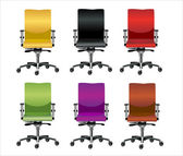 Set de sillas de oficina — Vector de stock