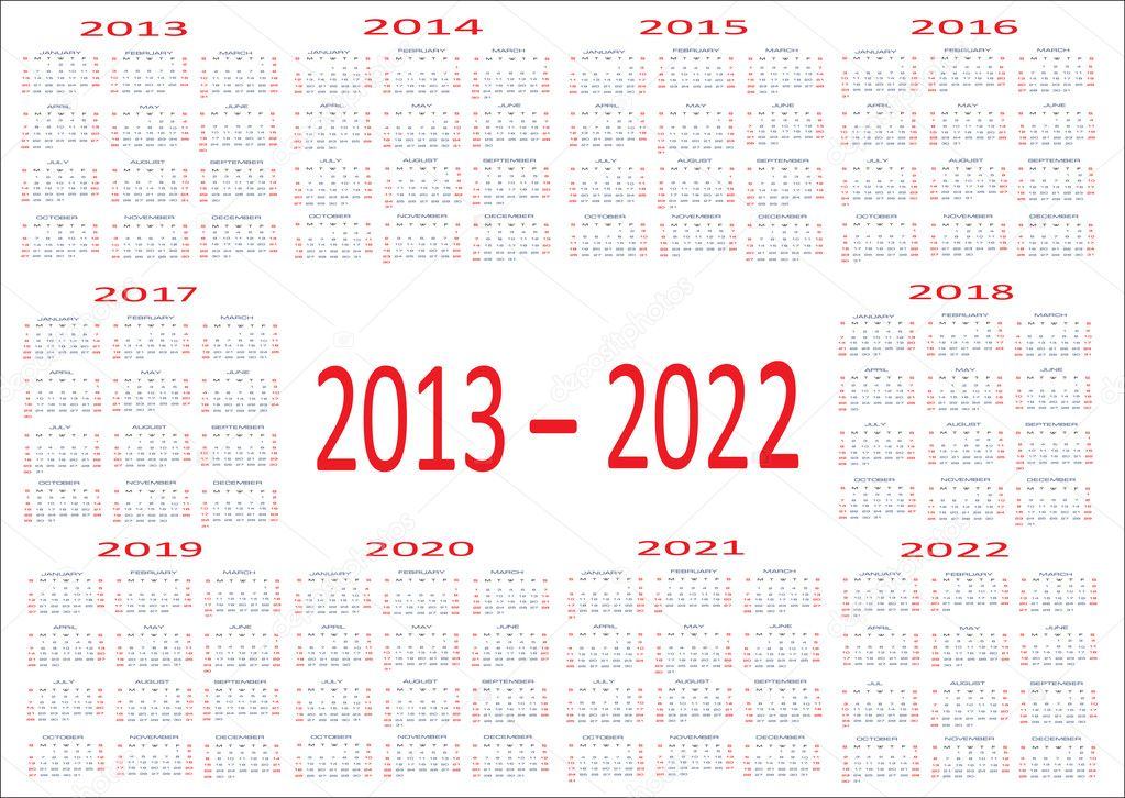 New year 2013, 2014, 2015, 2016, 2017, 2018, 2019, 2020, 2021, 2022 ...