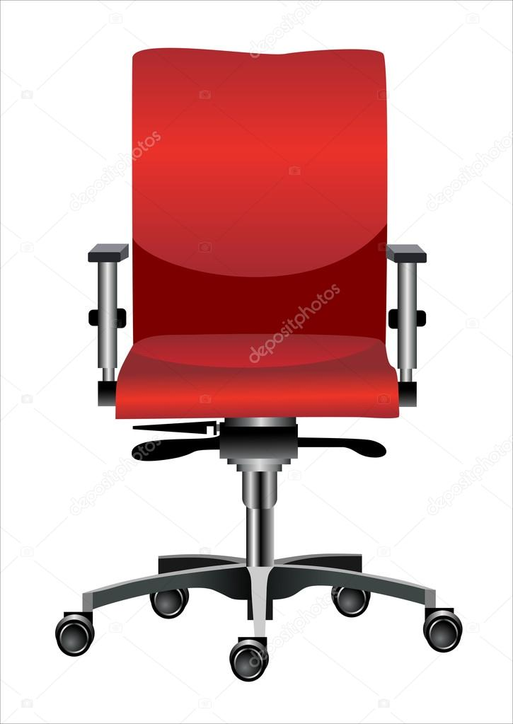 Office chair isolated on white — Stock Vector #14527161