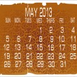 Calendar May 2013 — Stock Vector #14935775