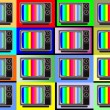 Classic tv -colorful no signal background — Stock Vector