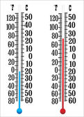 Thermometer measuring hot and cold temperature — Stock Vector