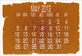 Calendar May 2013 — Stock Vector