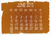 2013 Calendar June — Stock Vector