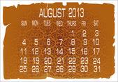 Calendrier vecteur août 2013 — Vecteur