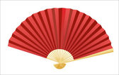 Folding fan. Vector. — Stock Vector