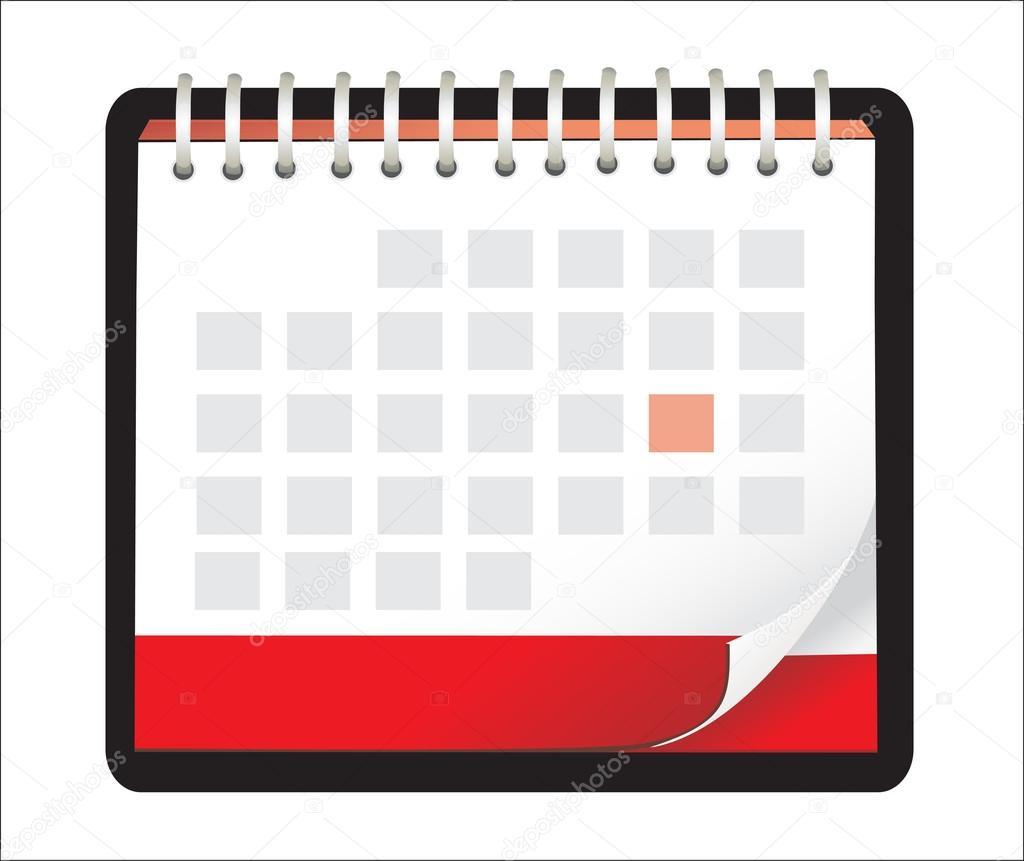 Calendar Illustration : Vector illustration of detailed beautiful calendar icon