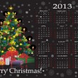 Royalty-Free Stock Vector Image: Christmas calendar 2013
