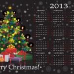 Christmas calendar 2013 — Stock Vector