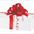 Gift box over white background — 图库矢量图片