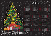 Christmas calendar 2013 — Stock Vector