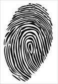 Vector of a finger print — Stockvektor
