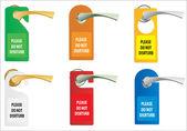 Door knob or hanger sign - do not disturb — Stock Vector