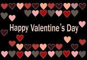 Cartolina di vettore per il giorno di San Valentino — Vettoriale Stock