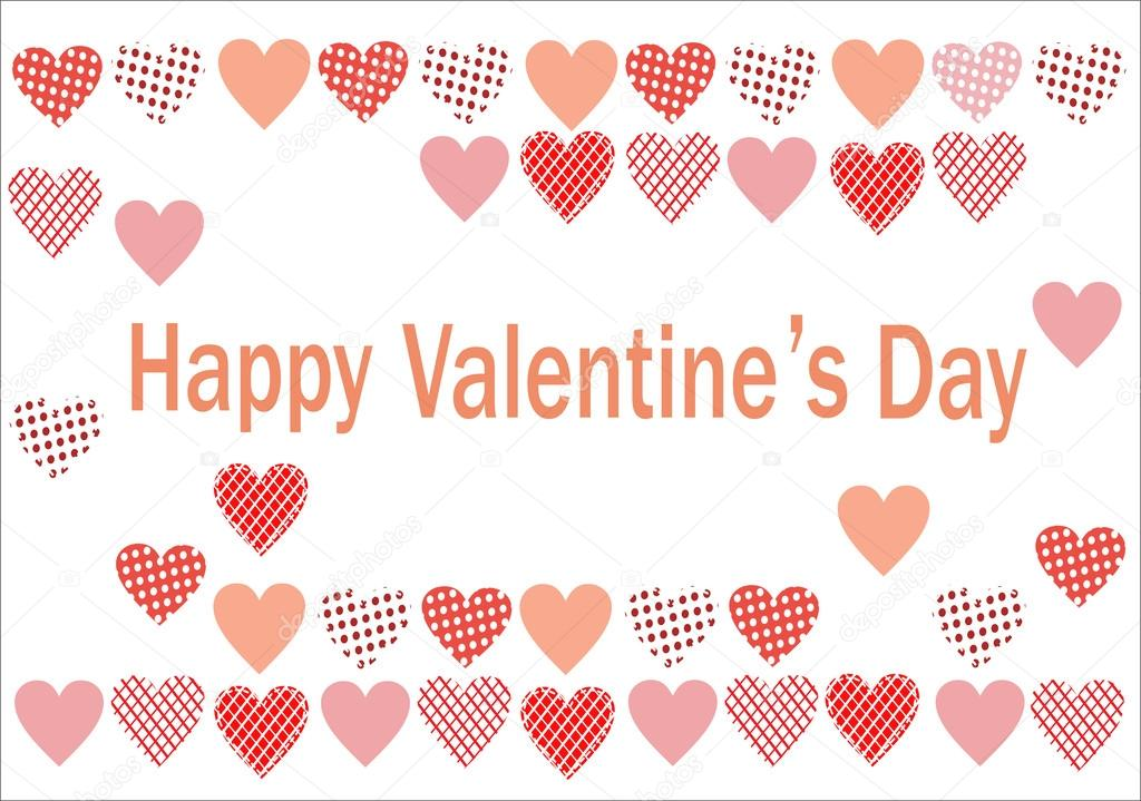 Vector postcard for Valentine's Day — Stock Vector #16772605