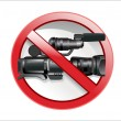 No camera sign. — Stock Vector