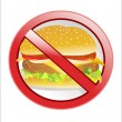 No fast food label — Stock Vector