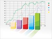 Vector 3D graph — Stock Vector