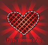 Valentine's day vector background. — Stock Vector