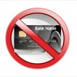No credit card allowed sign — Stock Vector #19290421
