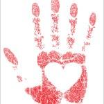 Hand prints heart — Stock Vector #19290953