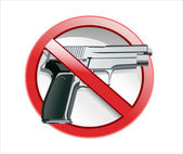 No gun mark — Stock Vector