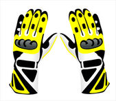 Motorcycle gloves — Stock Vector