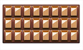 Chocolate Background With — Stock Vector