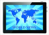 News on generic Tablet PC. Vector illustration — Stock Vector