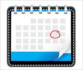 3 d ビジネスのグラフ详细漂亮的日历图标的插图 — 图库矢量图片