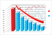 3D Business charts — Stock Vector