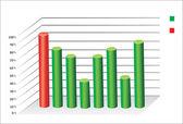Wykresy 3d firmy — Wektor stockowy
