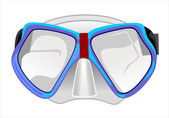 Mask for diving under water — Stock Vector