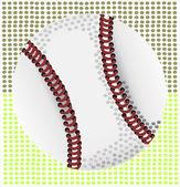 レトロな野球ベクトル イラストを図解. — ストックベクタ