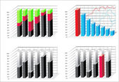 Zakelijke grafieken — Stockvector