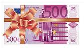 Euro gift — Stock Vector