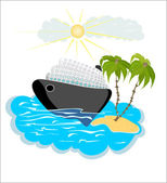 Travel transportation icon — Stock Vector