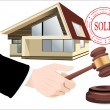 Sold the house — Stock Vector