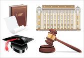 Vector law set. — Stock Vector