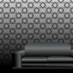 Black sofa — Stock Vector #25136347