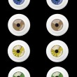 Set of 4 Real Different Open Eyes — Grafika wektorowa