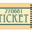 Vintage paper tickets with numbers — Stock Vector