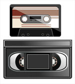 Videotape and cassette — Stock Vector
