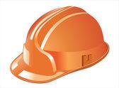 Orange helmet for builder worker — Stockvektor