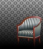 Velho estilo interior — Vetor de Stock