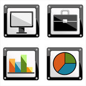 Vector illustration of apps icon set — Stock Vector