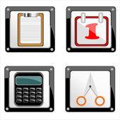 Ilustración vectorial de conjunto de iconos de aplicaciones — Vector de stock