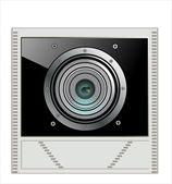 Camera lens icon — Stock Vector