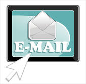 E-mail icon with arrow vector — Wektor stockowy