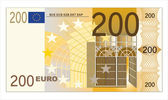 Two hundred euro banknote with a hologram — Stock Vector